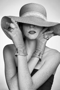 Striped hat-93-BW - Print