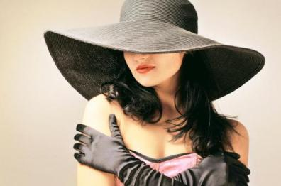 portrait-of-attractive-sensual-young-woman-in-black-widebrimmed-hat-picture-id476370715